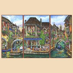 Схема для вышивки бисером Венецианские мотивы, полиптих из 3 частей