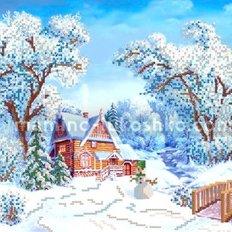 Схема для вышивки бисером Зимушка-зима