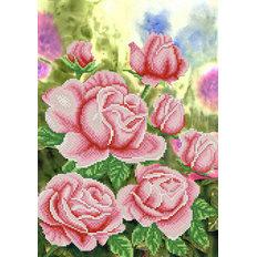 фото: схема для вышивки бисером Садовые розы