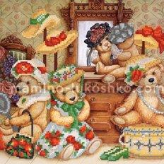 Схема для вышивки бисером Любимые игрушки