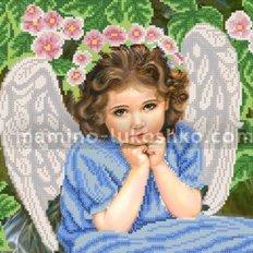 Схема для вышивки бисером Задумчивый ангел