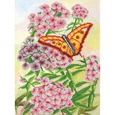фото: схема для вышивки бисером Флоксы в саду