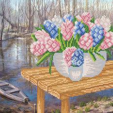 фото: схема для вышивки бисером Весна на реке