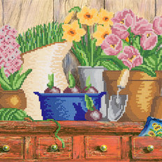 фото: схема для вышивки бисером Садовые хлопоты