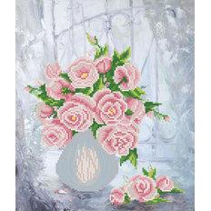фото: схема для вышивки бисером Розовая фантазия