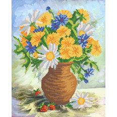 фото: схема для вышивки бисером Летние цветы