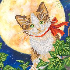 фото: схема для вышивки бисером Лунный кот