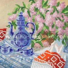 Схема для вышивки бисером Весеннее чаепитие
