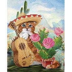 фото: картина, вышитая бисером, Мексиканский мачо