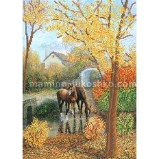 Схема для вышивки бисером Осенняя гармония
