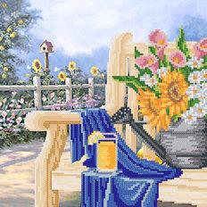 фото: схема для вышивки бисером Дачная скамейка