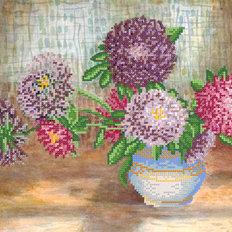фото: схема для вышивки бисером Поздние цветы