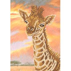фото: картина для вышивки бисером, жираф