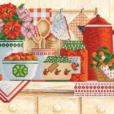 фото: картина для вышивки бисером яркий кухонный натюрморт