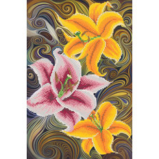 фото: картина для вышивки бисером Три лилии
