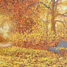 фото: картина для вышивки бисером Осень в парке городском