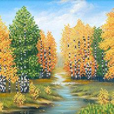 Схема для вышивки бисером Берёзовый лес