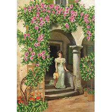 Схема для вышивки бисером Плетистые розы