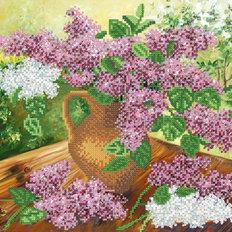 фото: картина для вышивки бисером Сиреневый букет