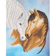фото: картина для вышивки бисером Лошади