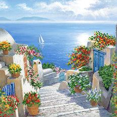 фото: картина для вышивки бисером Санторини