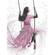 фото: картина для вышивки бисером, Крылатые качели