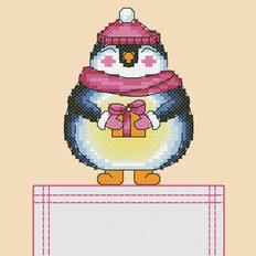 Схема для вышивки крестиком на одежде Пингвин