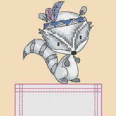 Схема для вышивки крестиком на одежде Енотик
