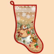 фото: схема для вышивания бисером новогоднего сапожка, Счастливый день