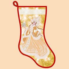 фото: схема для вышивания бисером новогоднего сапожка, Золотая Снегурочка