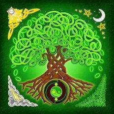 Схема-заготовка для вышивки подушки Дерево жизни
