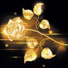 Схема для вышивки бисером Golden Rose