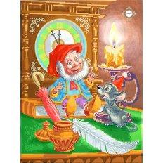 фото: картина для вышивки бисером Гном с крысёнком