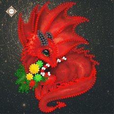 фото: картина для вышивки бисером Красный Дракон