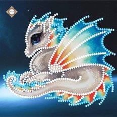 фото: картина для вышивки бисером Снежный Дракон