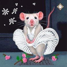 фото: картина для вышивки бисером Маленькая крыса