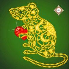 фото: картина для вышивки бисером Крыса