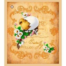 Схема для вышивки бисером салфетки Радость Пасхи