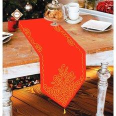 Схема для вышивки бисером дорожки на стол Рождественская сказка