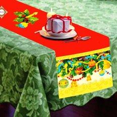 Схема для вышивки бисером дорожки на стол Новогодние чудеса