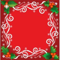 Схема для вышивки бисером салфетки Рождественские узоры