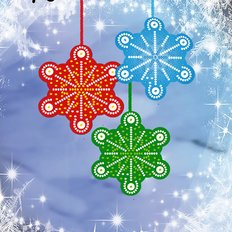 Схема-заготовка для вышивки новогодней игрушки Снежинка