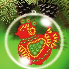 Схема-заготовка для вышивки новогодней игрушки Огненный цыпленок