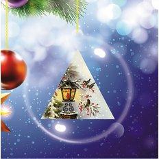 Схема-заготовка для вышивки новогодней игрушки Снегири