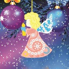 Схема-заготовка для вышивки новогодней игрушки Ангелочек