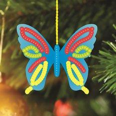 Схема-заготовка для вышивки новогодней игрушки Бабочка