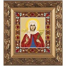 изображение: икона для вышивки бисером Св. Мц. Валентина Кесарийская