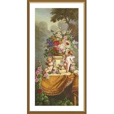 фото: картина для вышивки бисером Сад ангелочков