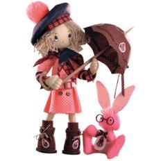 Набор для шитья Текстильная каркасная кукла Шоколадница бэби