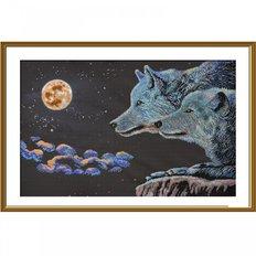 фото: картина для вышивки бисером Пара волков